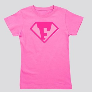 Super Hero Letter F - Girl's Tee